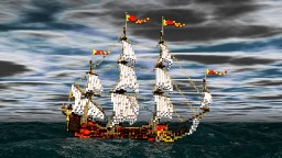 "Captain Blood galleon ""Arabella"" (former Galleon of ""Cinco Llagas"") Minecraft Map & Project"