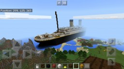 R.M.S Titanic in Minecraft Pocket Edition Minecraft Map & Project