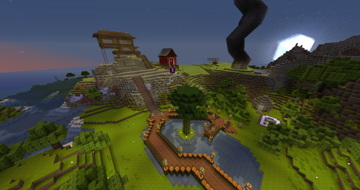 All builds showcased were built by players on the server in survival mode
