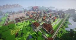 Village Minecolonies survie 1.12.2 update Minecraft Map & Project