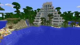 Palm tree hotel Minecraft Map & Project