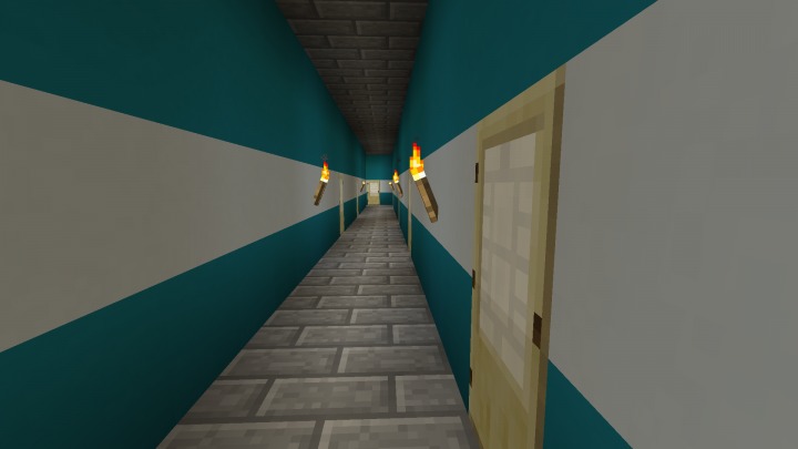 A typical corridor that link all rooms