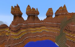 Mesa Mountains Preset Minecraft Map & Project