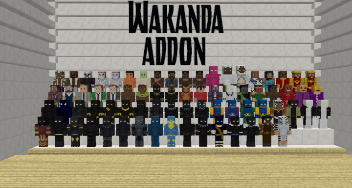 Popular Mod : Wakanda Addonpack 3.0 Lucraft: Core