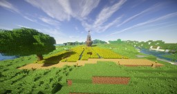 The House in the Midst of the Farmlands Minecraft Map & Project