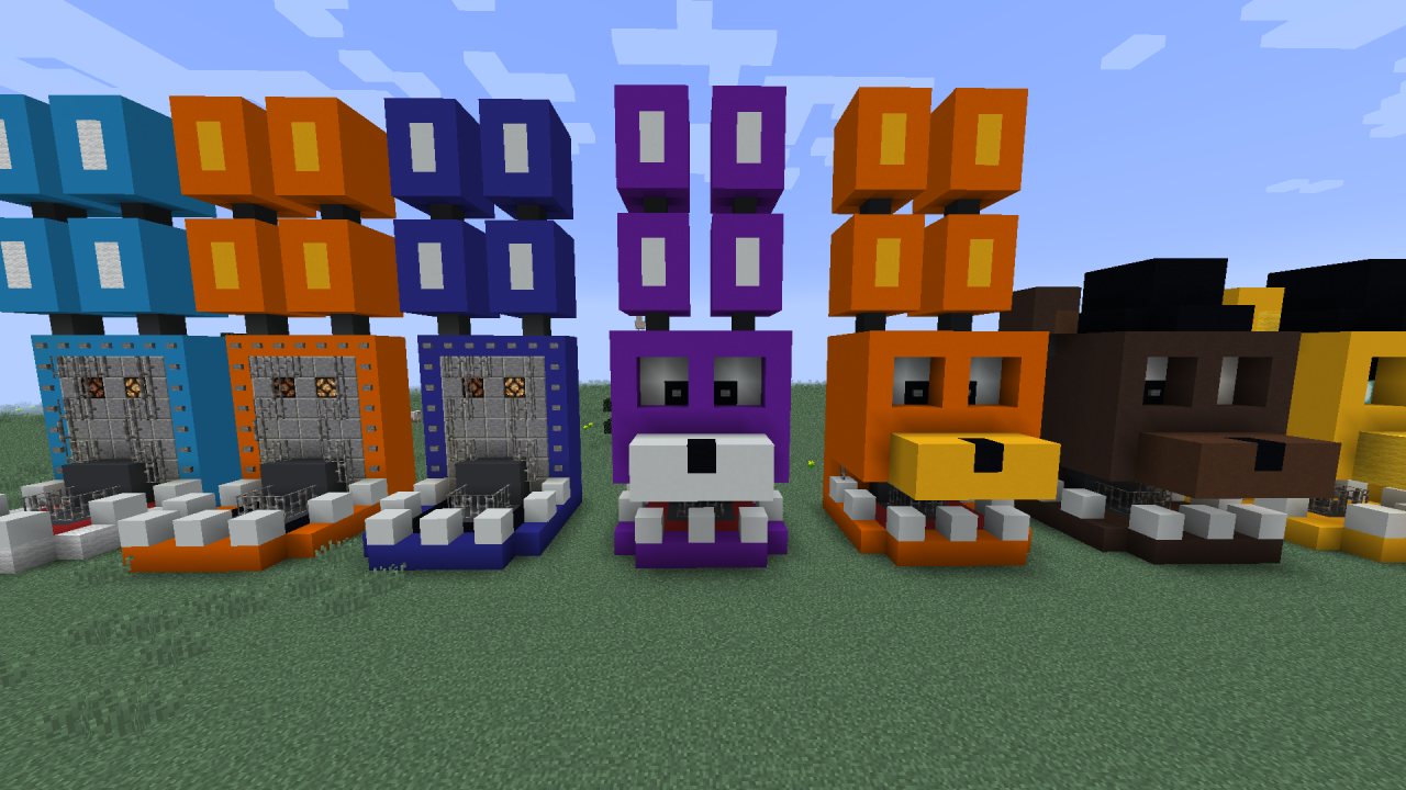 fnaf build Minecraft Project