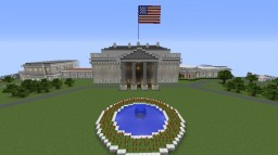 White House (Small Scale) 1.12.2 =FINAL= (with PARK and Monument and Lincoln Memorial) NEW!! Minecraft Map & Project
