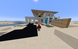 Beach Modern House 1 Minecraft Map & Project