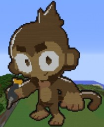 Dart Monkey (BTD6) Minecraft Map & Project