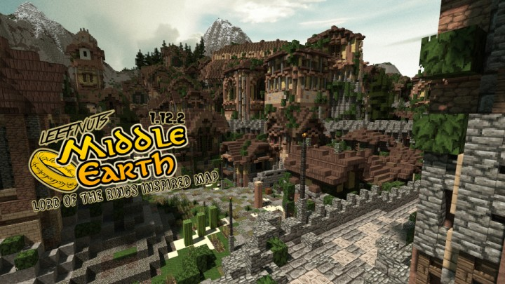 LEEFNUTS MIDDLE EARTH MAP Minecraft Project