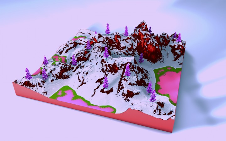 Popular Server Project : Red Velvet | 500x500 IntErEsTing terrain...