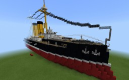 (custom design) RTS Guadalupe, Guadalupe class battleship Minecraft Map & Project