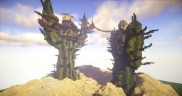 Cactosia, The City on a Cactus. Minecraft