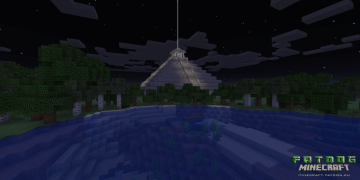 FDMC  Cauac - world spawnpoint temple in the dead of night