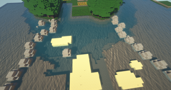 Slowly adding depth to the oceans out from the coastline.