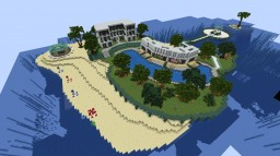 MetroGalaxy SMP 1.13 Island Resort Spawn Minecraft Map & Project