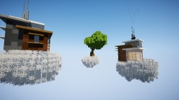 Two SciFi houses on the clouds. Minecraft Map & Project