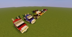 Transformers Prime Autobots Vehicles Minecraft Map & Project
