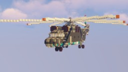 Mil Mi-26 Large Transport Helicopter Minecraft Map & Project