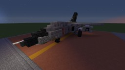 "Hü-101A ""Ulv"" (Fictional Attack Aircraft) Minecraft Map & Project"