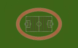A Football(Soccer) Field With Running Track. Minecraft Map & Project
