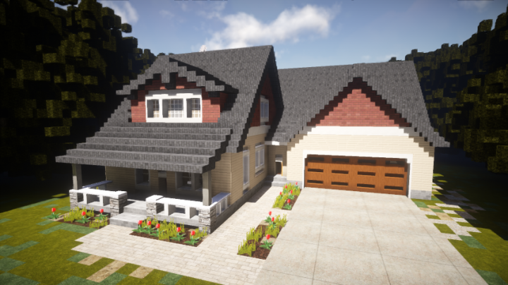 Magnificent Cottage Style House Exterior Only Minecraft Project Download Free Architecture Designs Osuribritishbridgeorg