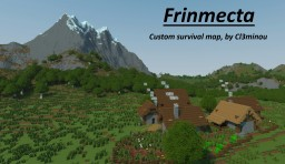 Frinmecta : 4096*6144 survival map with custom landscapes, villages and dungeons Minecraft
