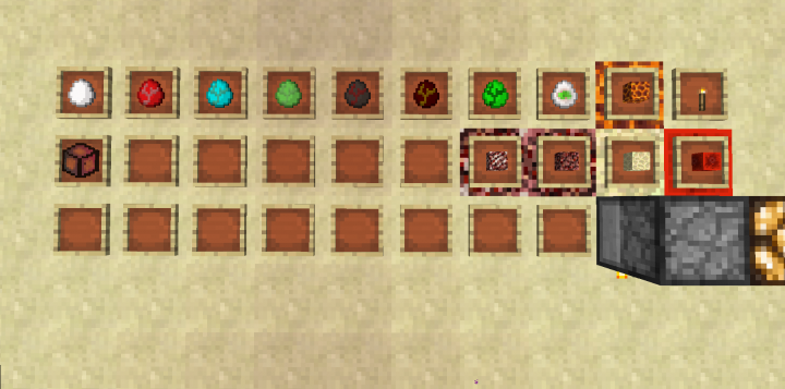 Changes of Items and blocks It is animated or new designed  -  updated for 0.0.1