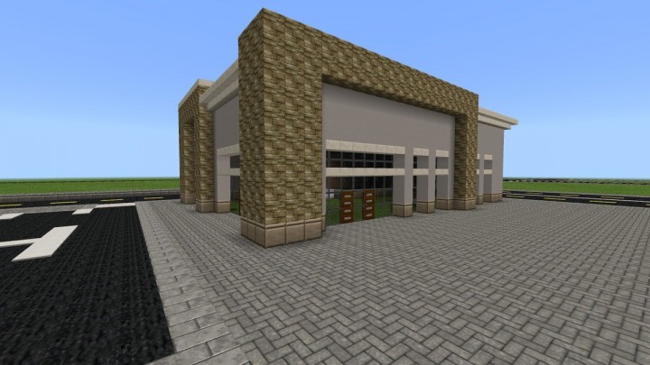 A 3rd individual building in the plaza for one business. I want this one to be a bigger store but I don't know what.