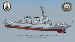 USS Arleigh Burke DDG-51 Minecraft Map & Project