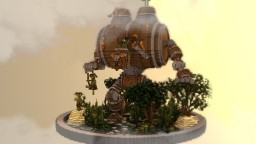 Whiskey Golem from Malifaux Minecraft Map & Project