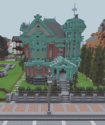 Victorian House- The Flowation Copper House Minecraft Map & Project