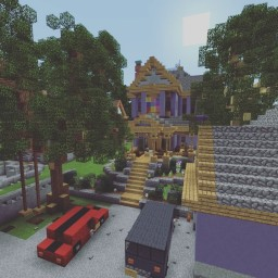 Purple Victorian House Minecraft Map & Project