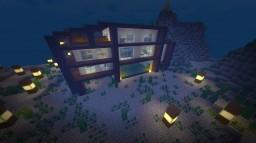 Modern Underwater House Minecraft Map & Project