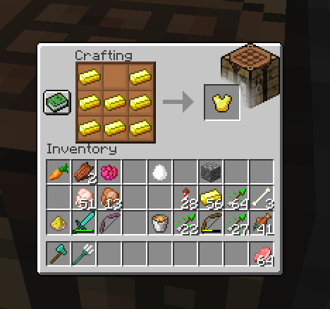 Crafting Table's gui