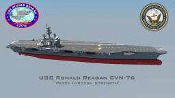 USS Ronald Reagan CVN-76 Minecraft Map & Project