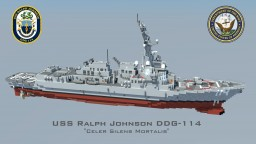 USS Ralph Johnson DDG-114 Minecraft