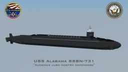 USS Alabama SSBN-731 Minecraft Map & Project