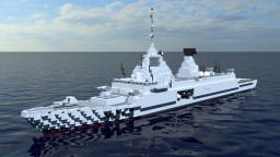 D530 d'Estienne d'Orves Nuclear Powered Missile Destroyer Minecraft