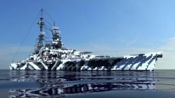 DKM Admiral Lütjens . Fictional Großer Admiral class Battleship Minecraft