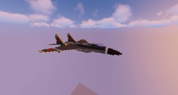 Russian Plane: MIG 29K (Mikoyan) Minecraft Map & Project