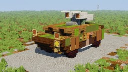 "CV-8 ""Bolshev"" Fictional Light Armored Anti Tank Vehicle Minecraft Map & Project"