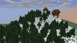 snow Montain with houses . Minecraft Map & Project