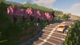 Japanese Mountain Road Project Minecraft Map & Project