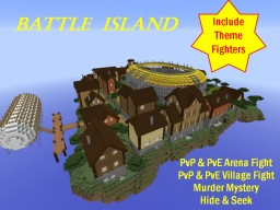 Battle Island - Theme Fighter Battle Arena Minecraft Map & Project