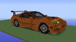 Toyota Supra by mattecraft1 : 2 models Download Minecraft Map & Project