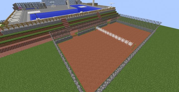 added a tennis court