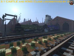 3:1 GWR 4073 and 6000 Class Steam Locomotives Minecraft