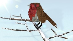 LEGO Bird of bullfinch in minecraft. Minecraft