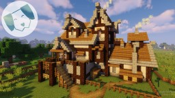 Medieval Inn with TIMELAPSE Minecraft Map & Project
